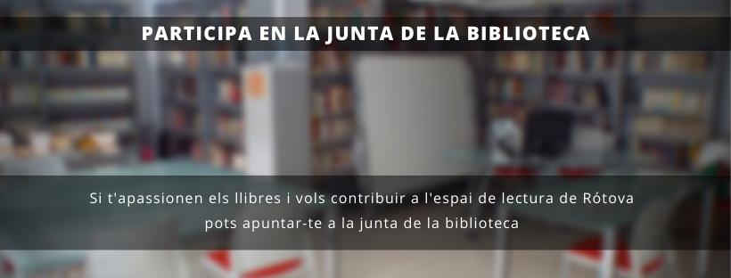 Posem en marxa una Junta de Biblioteca